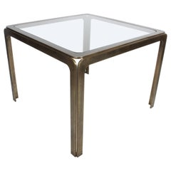 Rodger Sprunger for Dunbar Style Bronze Occasional Table