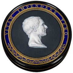 18th Century Montesquieu Portrait Tortoiseshell Snuff Box