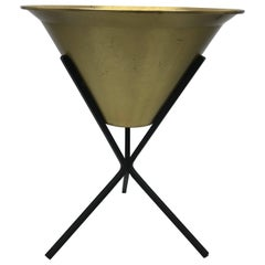 1970s Brass and Iron Paul McCobb Style Planter