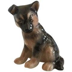 Royal Copenhagen Puppy Collection, Alsatian Puppy Figurine #754