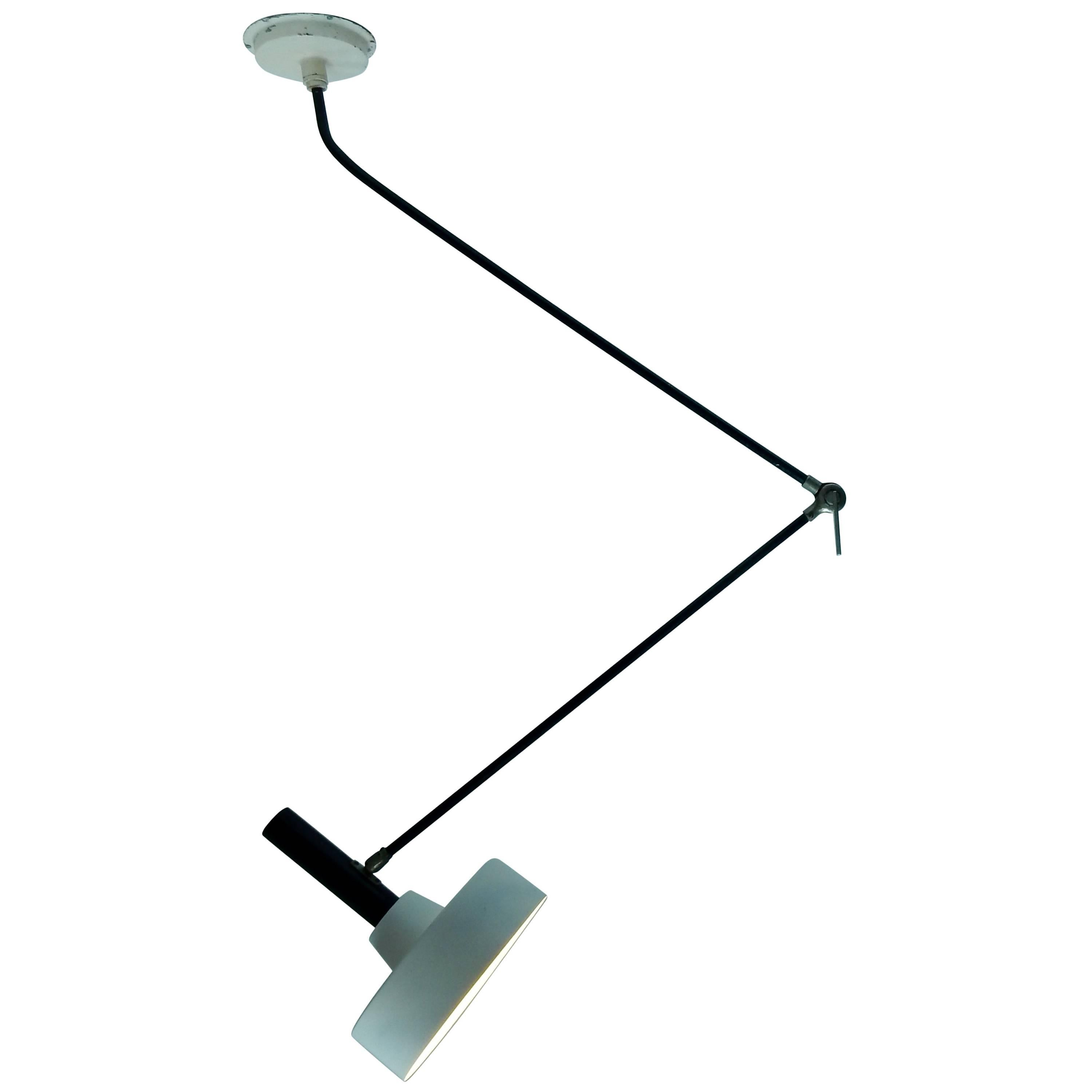 Rare Wall Or Ceiling Lamp, Model 190 B By Willem