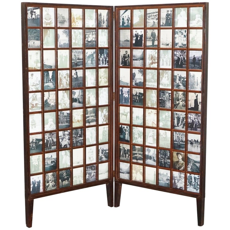 Beech Wood Folding Screen Room Divider Victorian Pictures Royal Military Empire For