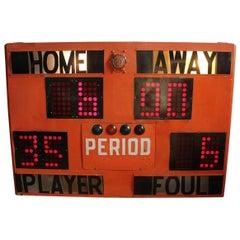 Midcentury Basketball Scoreboard