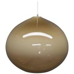 1960s Vistosi Oignon Lamp Scandinavian Fading Bronze Glass Allesandro Pianon