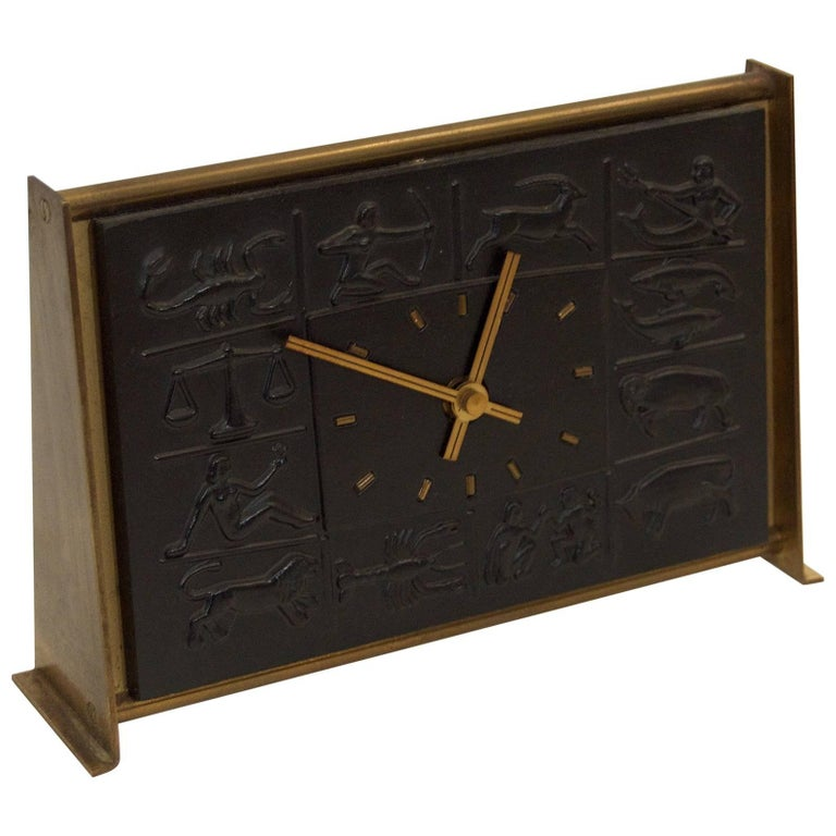 Mauthe Zodiac Wall Clock At 1stdibs