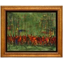 Pascal Cucaro Oil on Canvas Street Scene Painting