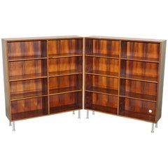 Pair of Stunning Omann Jun Mobelfabrik Mid-Century Modern Wood Bookcases