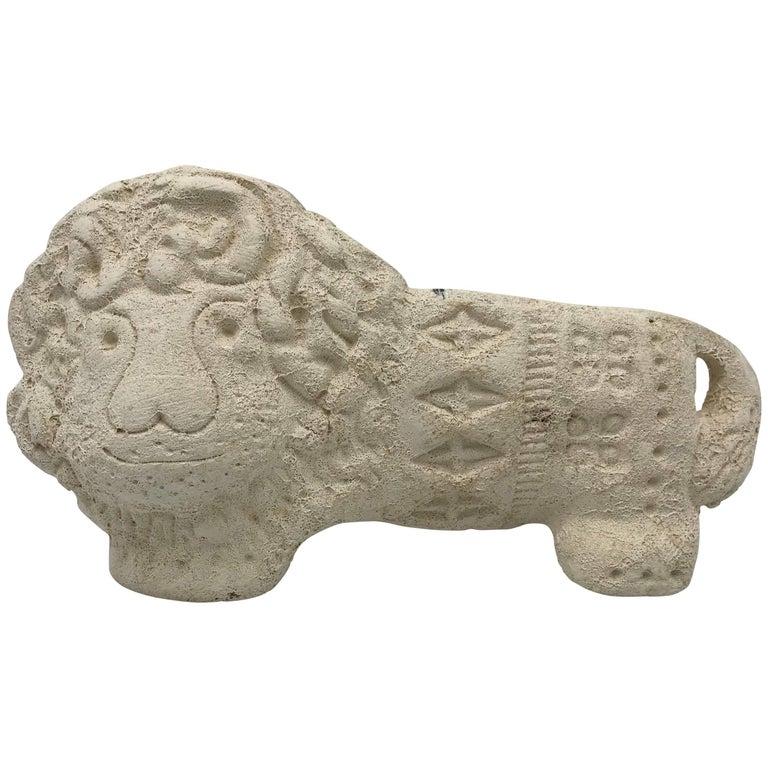 1960s Aldo Londi for Bitossi Lion Sculpture
