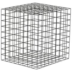 Award Winner Geometric Black Grid Squared Minimalist Side Table