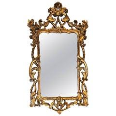1970s Large Italian Florentine Mirror