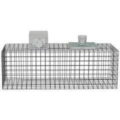 Award Winner Geometric Black Grid Squared Minimalist Coffee Table