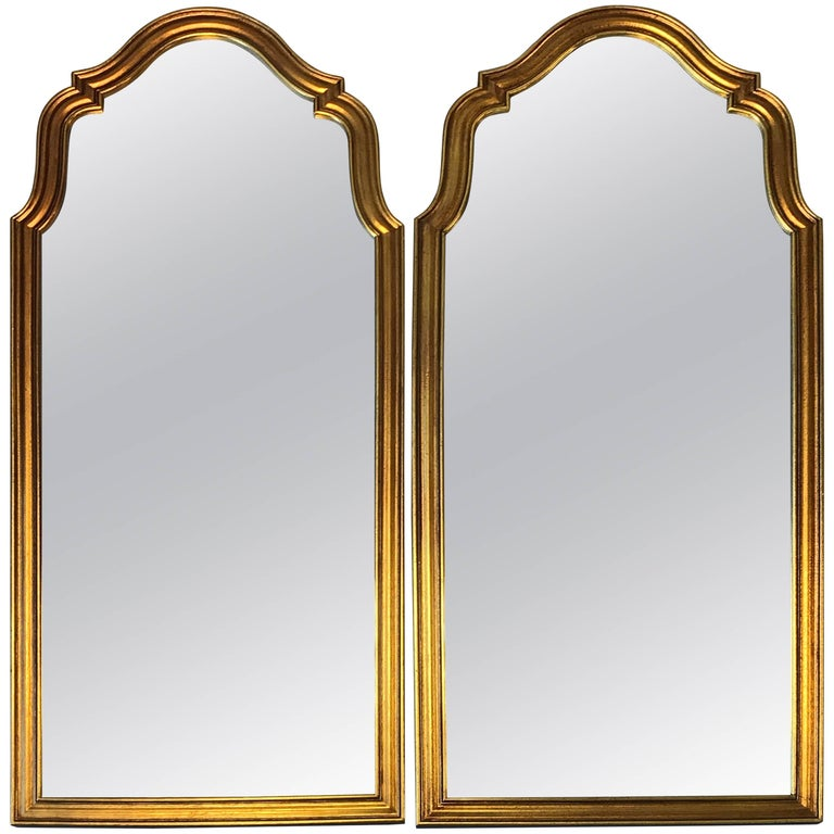 Pair of 1970s Large Italian Florentine Mirrors