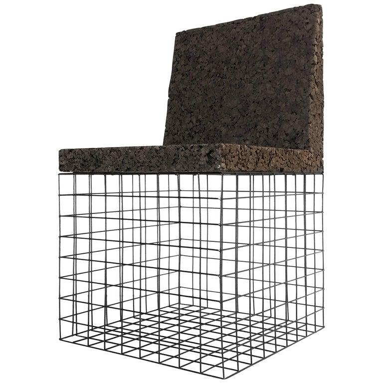 Grove Chair in Toasted Cork and Metal / black Minimal / Design Award Winner
