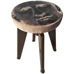 Dominique Clemenceau Stool by Andre Domin and Marcel Geneviere