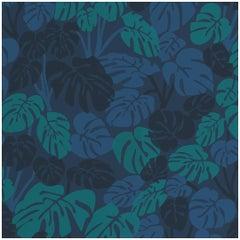 Deliciosa Designer Wallpaper in Moonlight 'Teal, Blue, Navy and Cobalt'