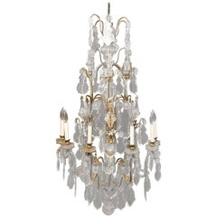 Late 19th Century Gilt Bronze and Baccarat Crystal Twelve-Light Chandelier