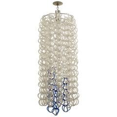 MidCentury Italian Vistosi Design Glass Pendant Chandelier