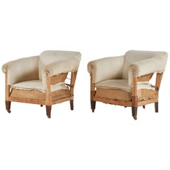 Late 19th Century Pair of French Upholstered Wood Chairs.