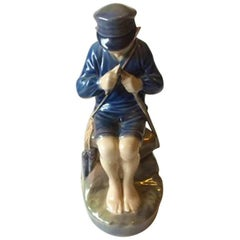 Royal Copenhagen Figurine Boy Cutting Stick #905