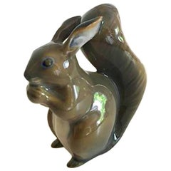 Royal Copenhagen Figurine of Squirrel No. 982