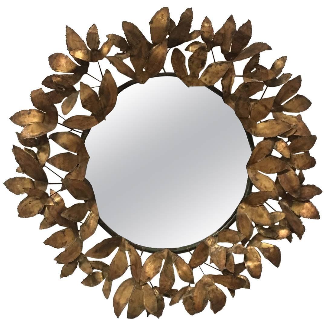 """Curtis Jere """"Leaf"""" Mirror 1960s"""