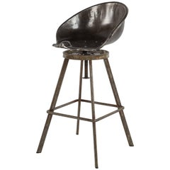 Metal Barrel Stool