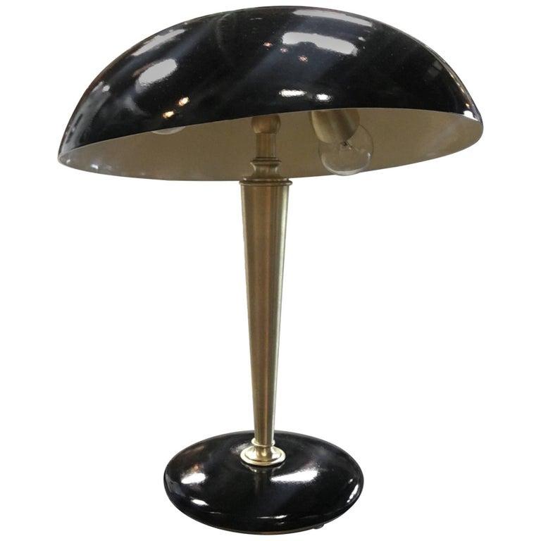 Vintage Brass Desk Lamp, 1950s For Sale