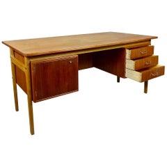 1960 Danish Teak Desk by Torben Strandgaard, Mobelfabrik Falster