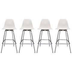 Four Herman Miller Eames Barstools