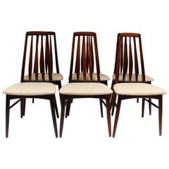 "Set of Six ""Eva"" Dining Room Chairs Designed by Niels Koefoed, 1960s"