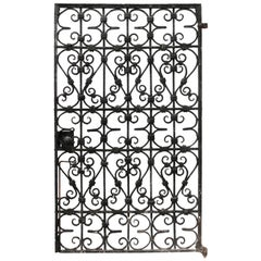 Black Wrought Iron Pedestrian Gate, circa 1900