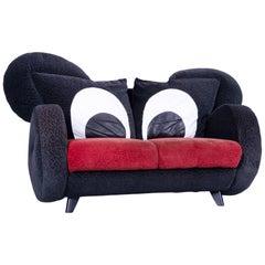 Bretz Mickey Mouse Kids Designer Sofa Fabric Black