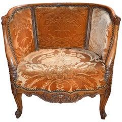 19th Century Carved Beechwood Crapaud Armchair