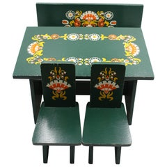 Midcentury Hand-Painted Dolls Furniture Germany