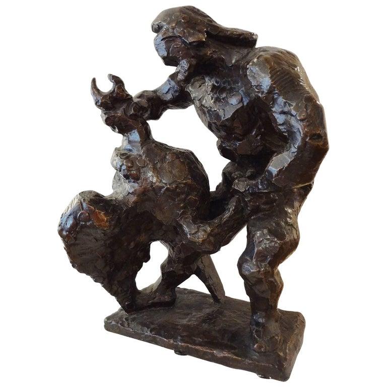 Prométhée Strangling the Vulture, 1936, by Jacques Lipchitz For Sale