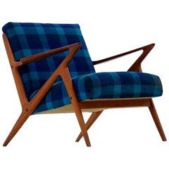 Z Lounge Armchair Chair by Poul Jensen & Selig Midcentury Danish Modern, 1950s