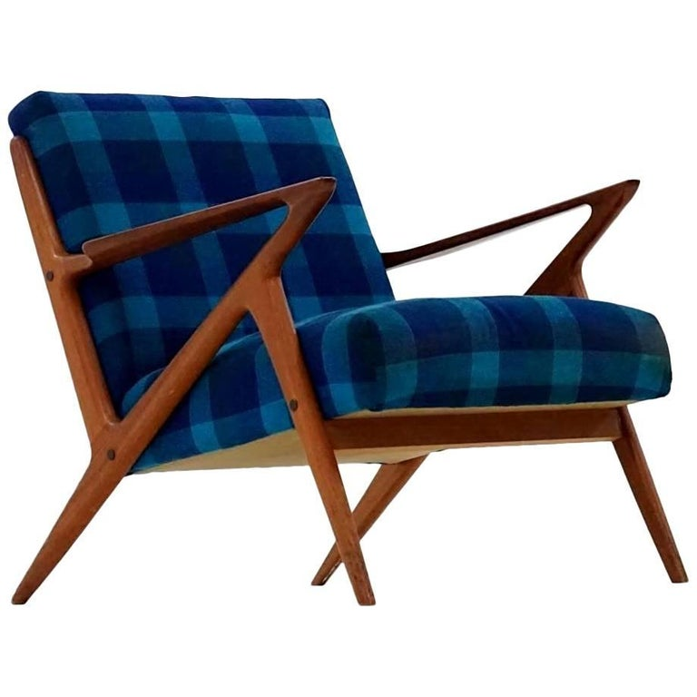 Z Lounge Armchair Chair by Poul Jensen & Selig Midcentury Danish Modern, 1950s