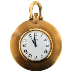 Yellow Gold Open-Faced Pendant Pocket Watch