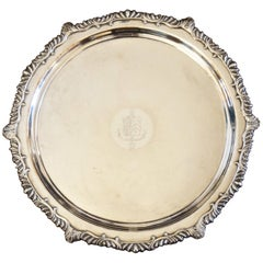 Continental Silver Plated Round Tray