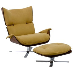 Brazilian Midcentury Lounge Chair by Jorge Zalszupin in Jacaranda Rosewood