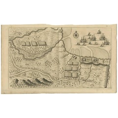 Antique Map of the Region aroud Pasuruan 'Indonesia' by F. Valentijn, 1726