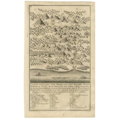 Antique Map of the Road Between Semarang & Kartosuro by F. Valentijn, 1726