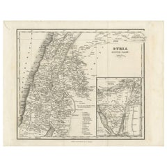 Antique Map of Southern Syria by Fullarton & Co, circa 1860