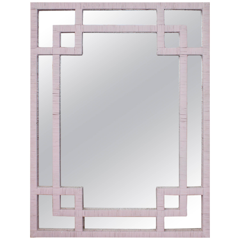 Midcentury Rattan Wall Mirror