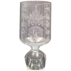 """Elijah's Cup"" by Ladislav Jezek, Moser Glassworks"