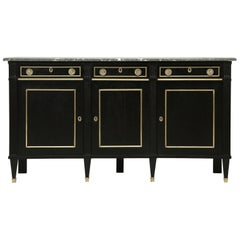 Antique French Ebonized Buffet, Completely Restored from the Inside Out