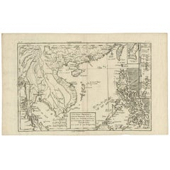Antique Map of the Philippines by R. Bonne, 1787