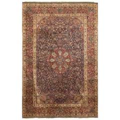 Vintage Silk Kashan Rug