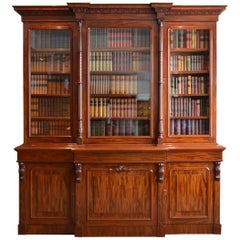 Magnificent Victorian Mahogany Library Bookcase