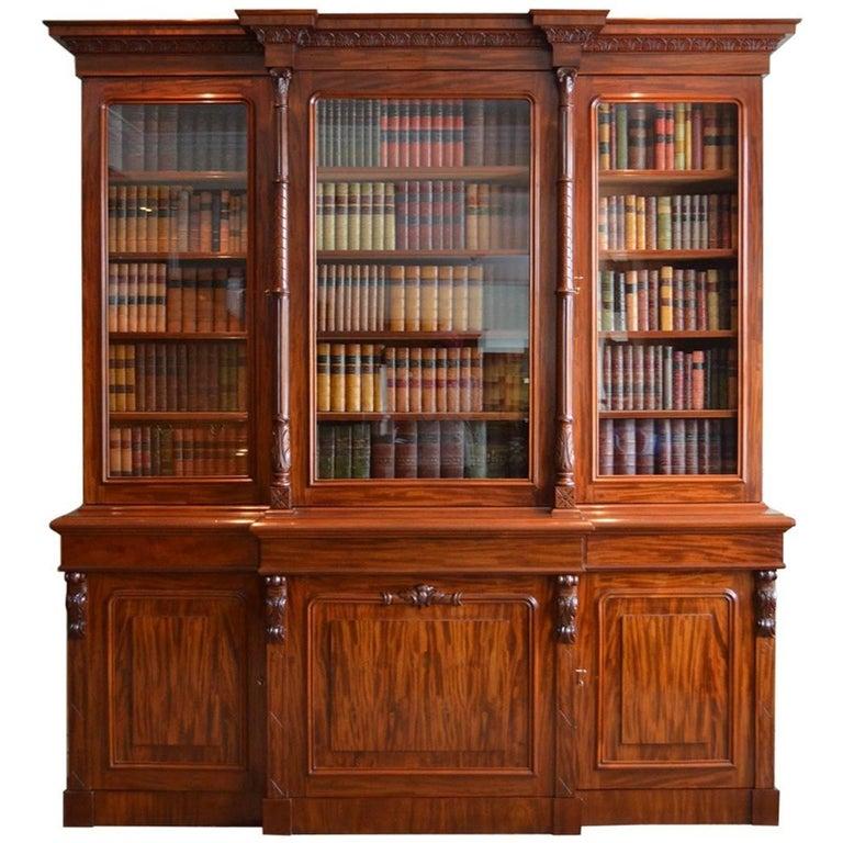 Magnificent Victorian Mahogany Library Bookcase